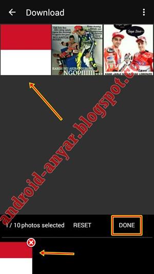 tutorial edit foto efek bendera dengan HP Android
