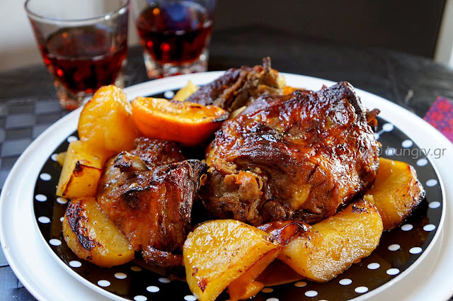 Roasted Lamb with Grape Molasses