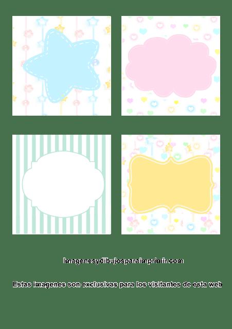 Tarjetitas para regalos de bebes