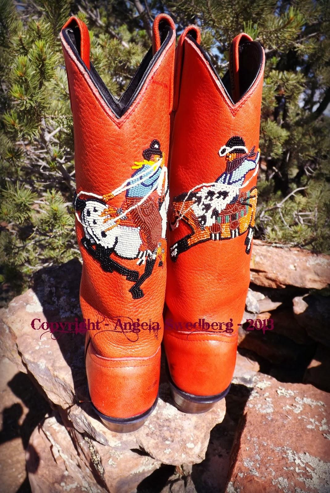 angela swedberg beaded cowgirl boots