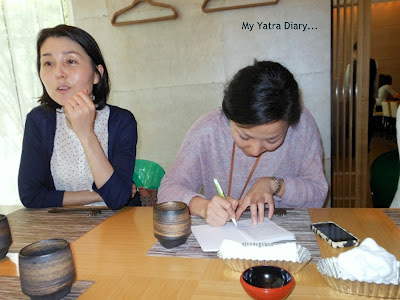 Expedia Japan planning out our sightseeing activies