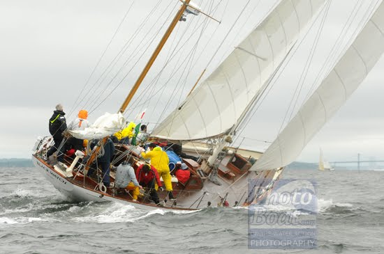 The NYYC Annual regatta in Newport this weekend was lumpy and rainy.