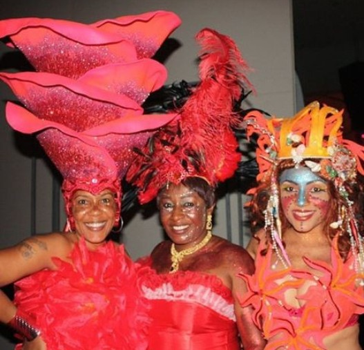 Scary? See Shan George & Patience Ozokwor's Costumes At The Calabar Carnival