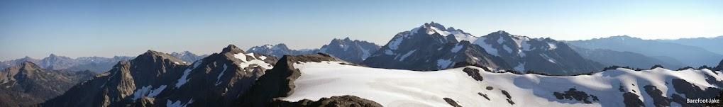 Olympic Mountain interior panoramic