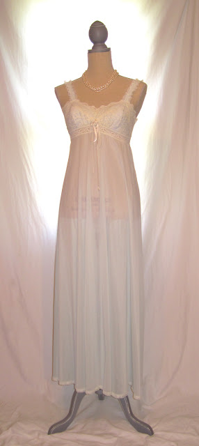 Light blue sheer lace wedding nightie lingerie