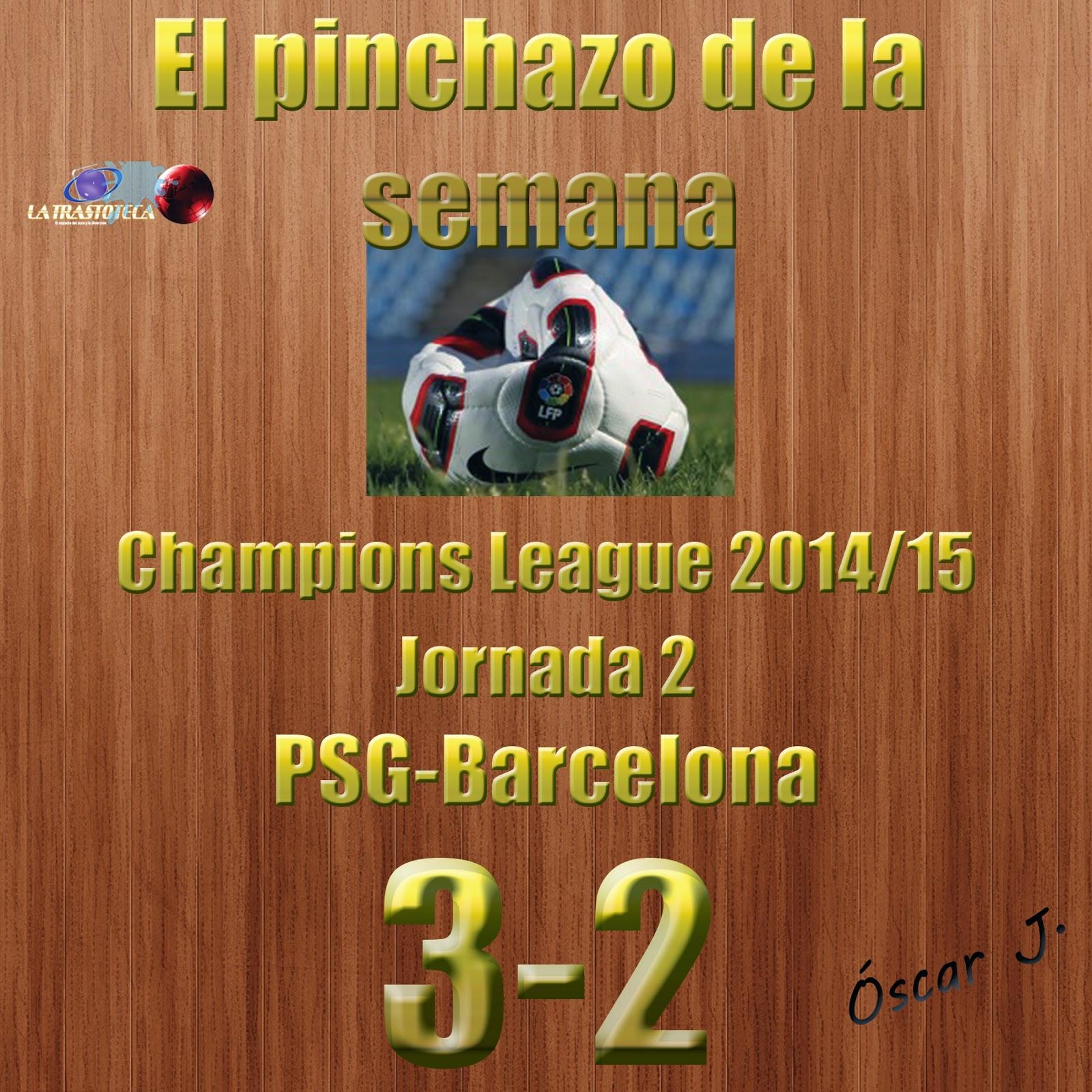PSG 3-2 Barcelona. Champions League - Jornada 2. El pinchazo de la semana.