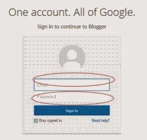 Cara Membuat Blog di Blogspot dengan mudah - login account