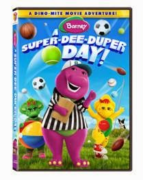 Enter the Barney: A Super-Dee-Duper Day DVD Giveaway. Ends 7/15/14.