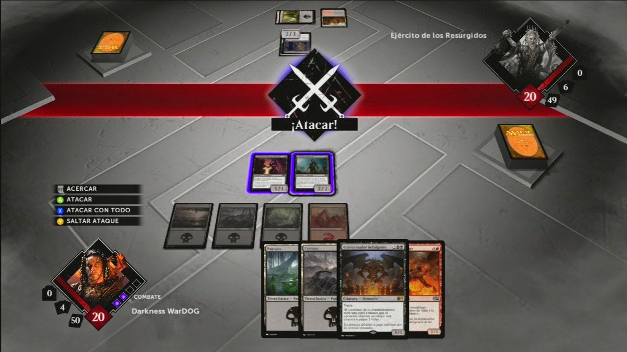 Cambio de la fase de ataque en el juego Magic 2015.
