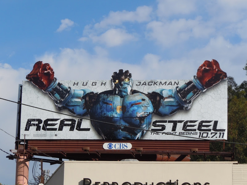 Real Steel movie billboard