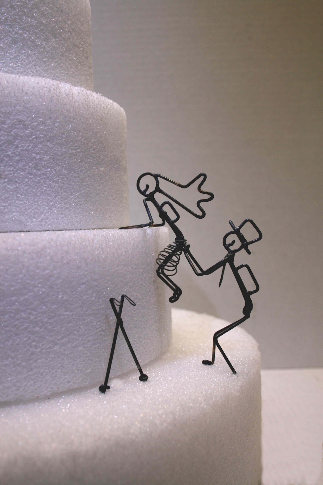Wire Bride And Groom Cake Topper
