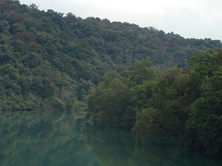 A peaceful portion of the Kali river