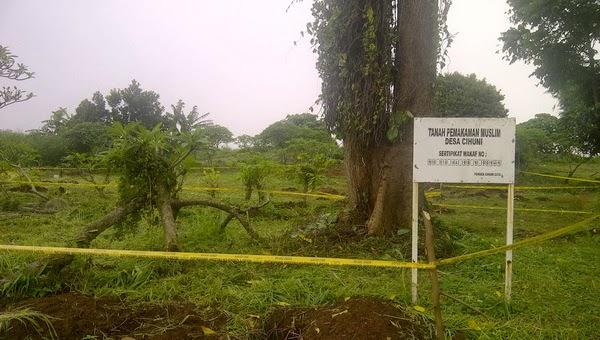 Puluhan mayat dicuri dari Pemakaman Desa Cihuni Tangerang (foto okezone)