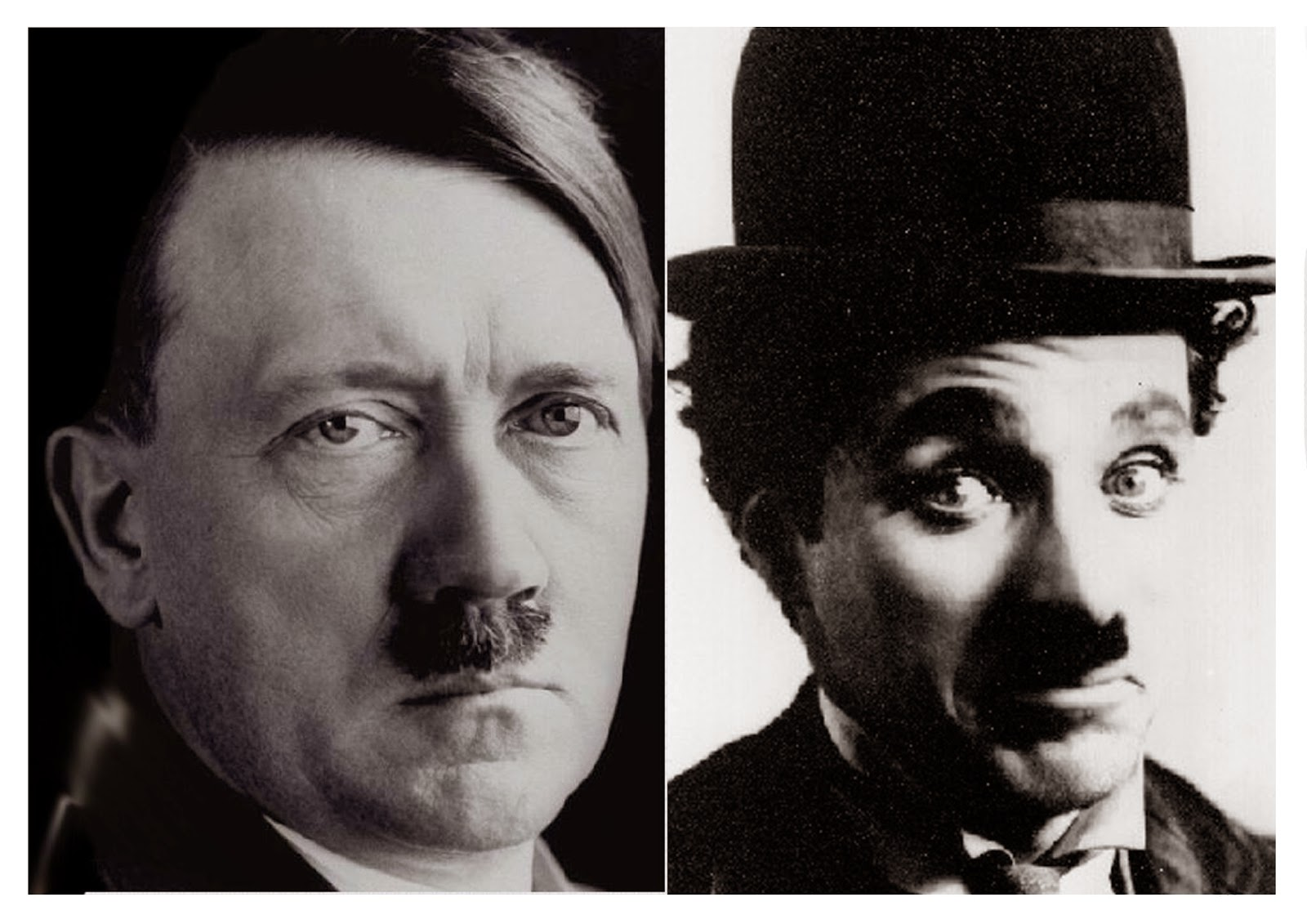 Charlie Chaplin and Adlof Hitler