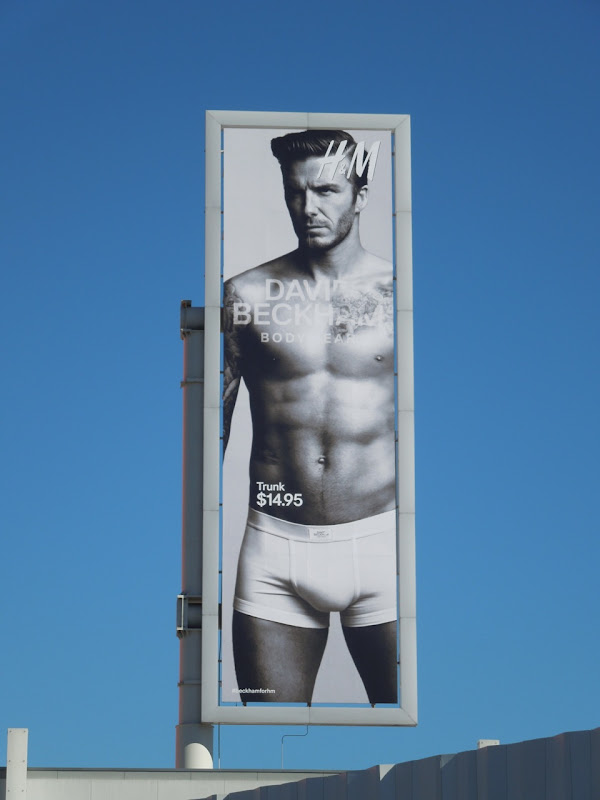 David Beckham HM underwear billboard