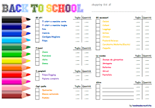 back to school/1: la shopping list da stampare.