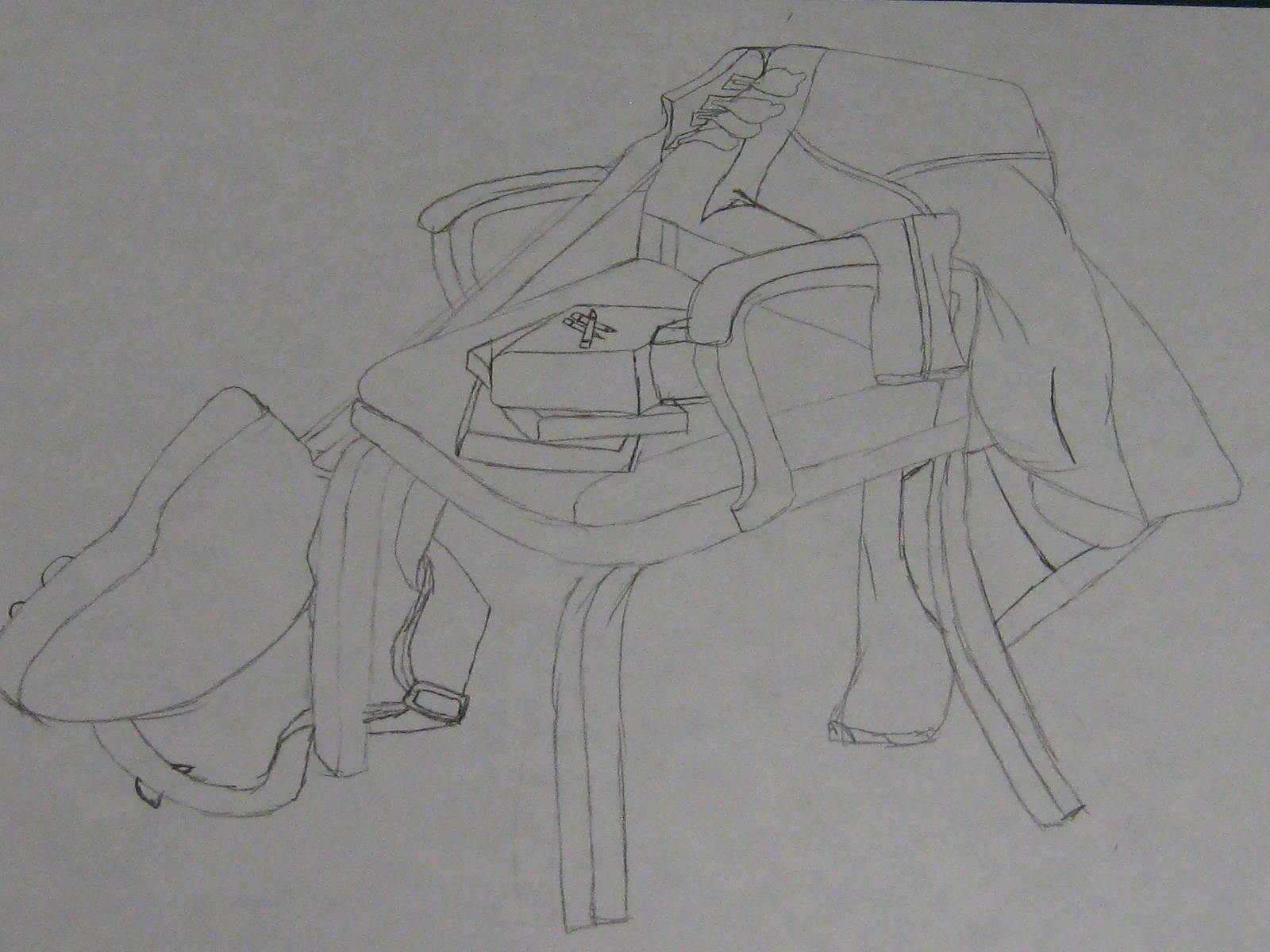 Contour Line Drawing Guitar : Make it artwork guitar and chair
