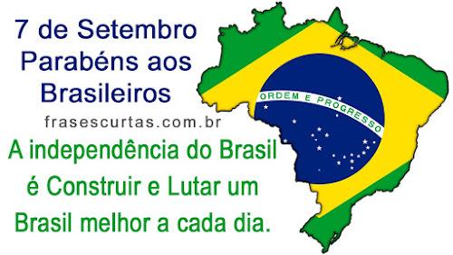 Frases de 7 de Setembro - Independência do Brasil