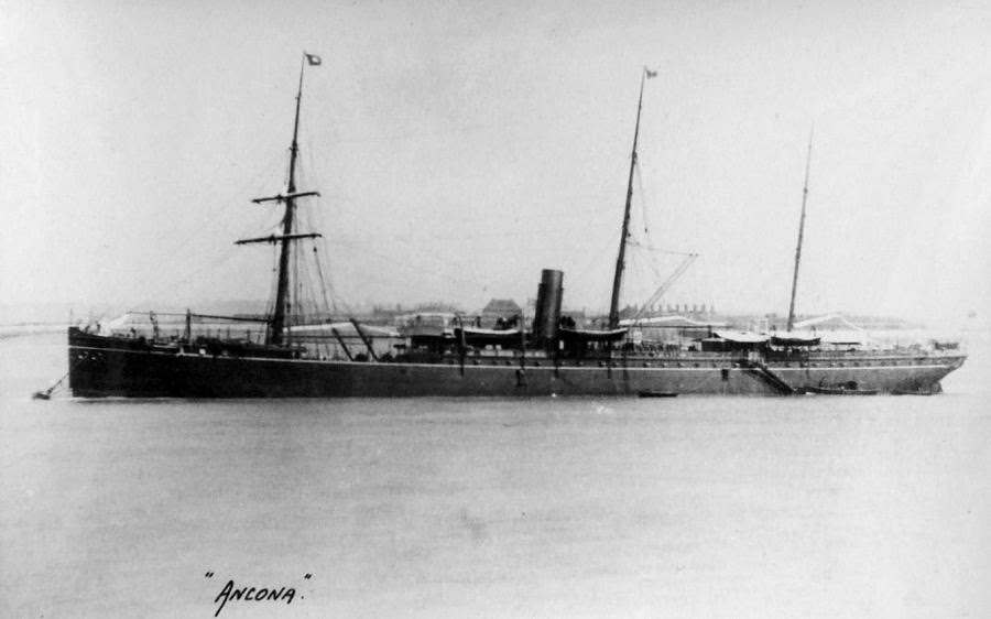 Sunk ~ amp; Ancona 8 Wwi 1915 Wwii Ship's Aboard November With Civilians