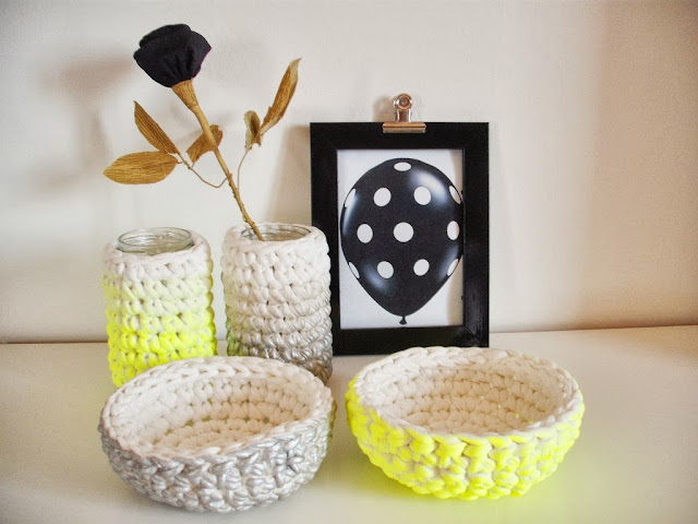Cosy crochet set - Nest and jar by Looping Home
