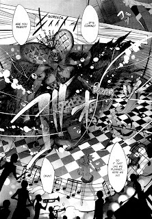 Action scene from the manga Puella Magi Madoka Magica