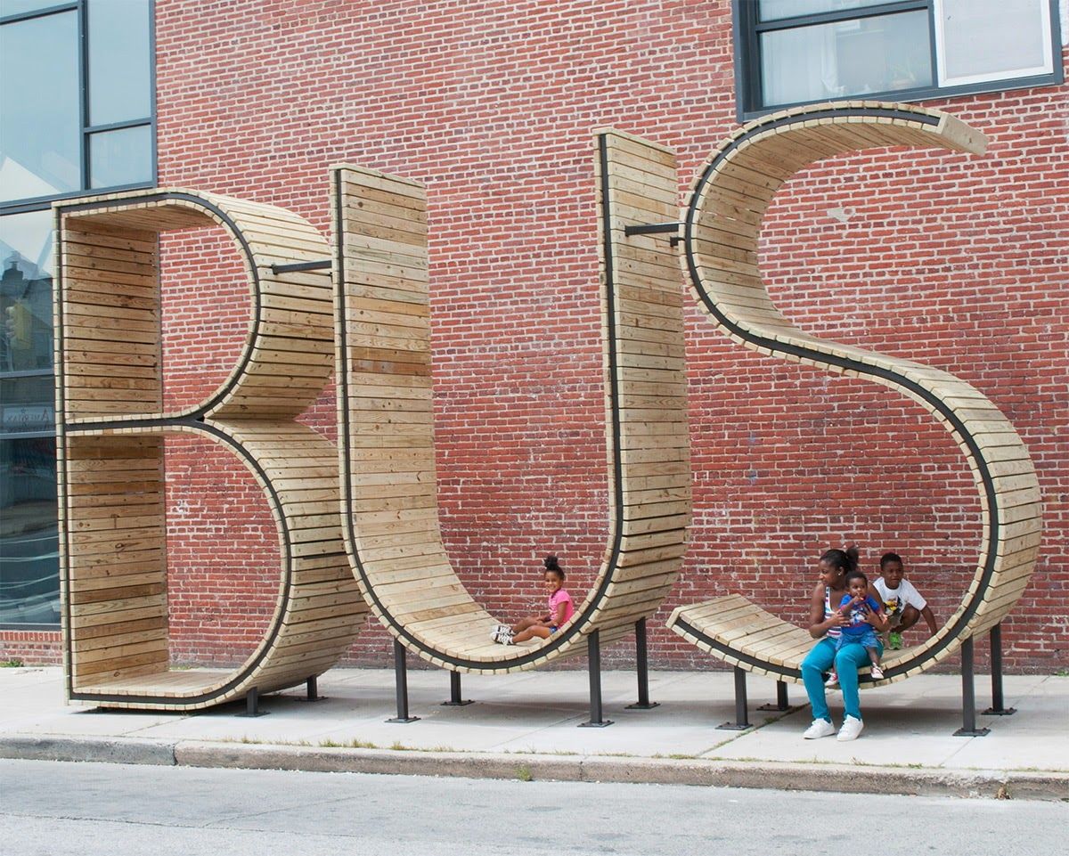 Typography Bus Stop