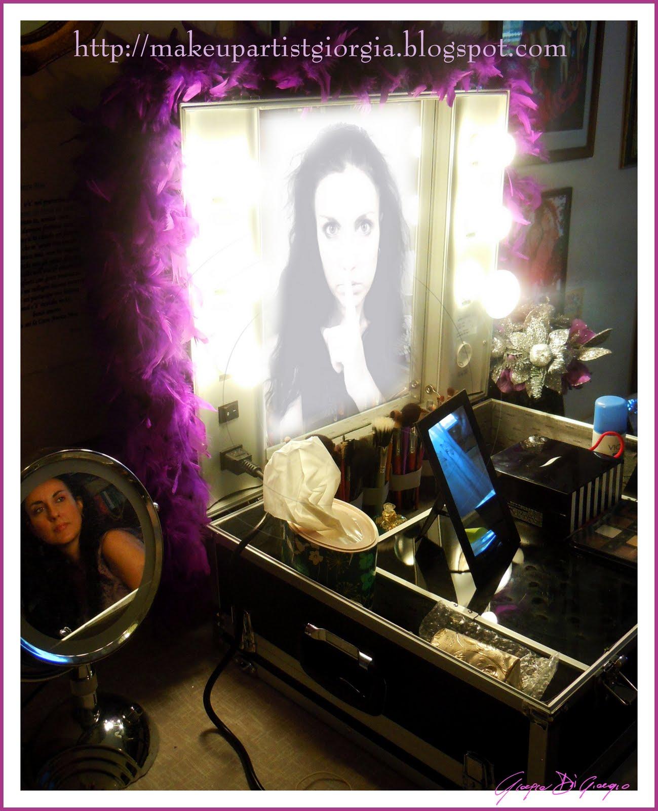 Make up artist valigia trucco professionale rigida con luci - Specchio make up professionale ...
