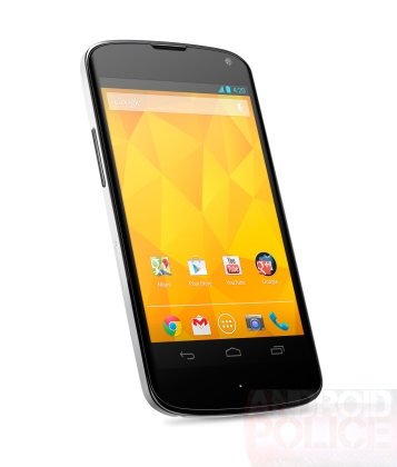 White Nexus 4 Render Images