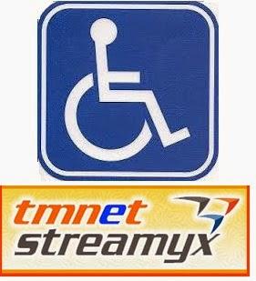 Keistimewaan Golongan OKU Pakej Internet Streamyx 512 kbps hanya RM45 sebulan
