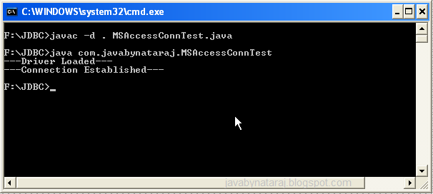 Connecting MSAccess Database using JDBC Driver_JavabynataraJ