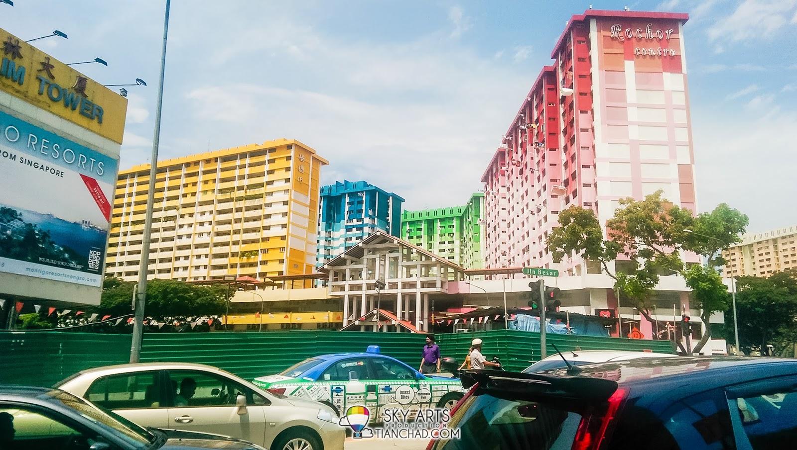 Rainbow color building near Bugis Street spotted