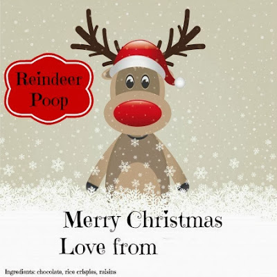 Chocolate Reindeer Poo - printable label