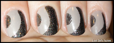 side half-moon ruffian nail art