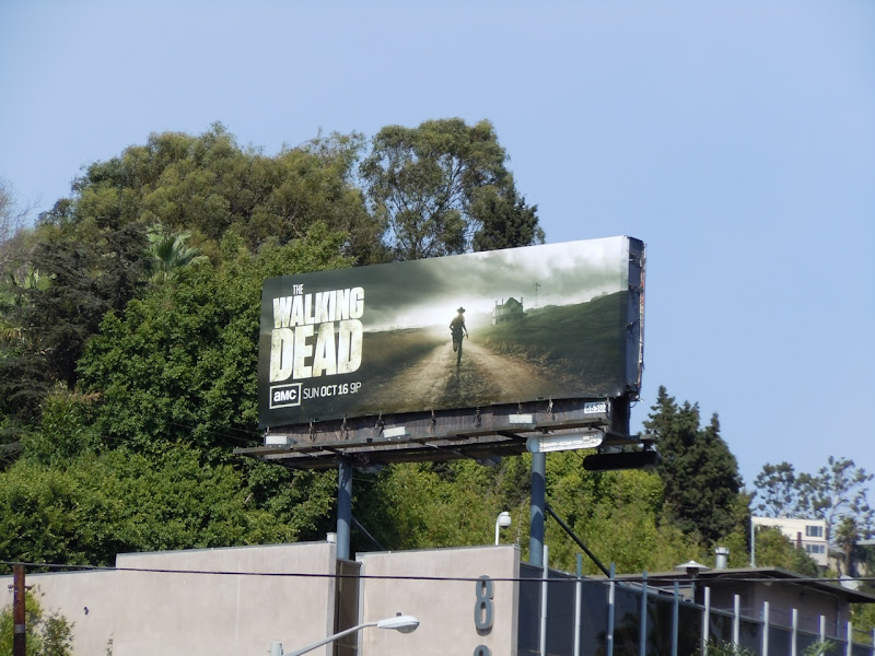 The Walking Dead season 2 TV billboard
