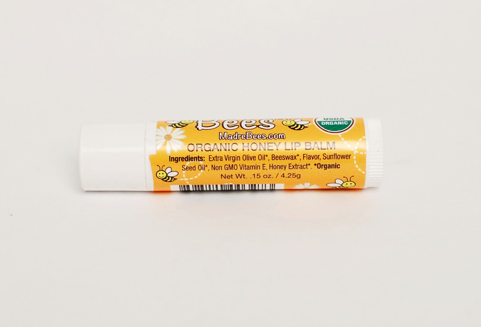 Madre Bees Organic Honey Lip Balm ingredients