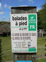 Wandel- en fietsroutes (chamina) vanuit Queuille