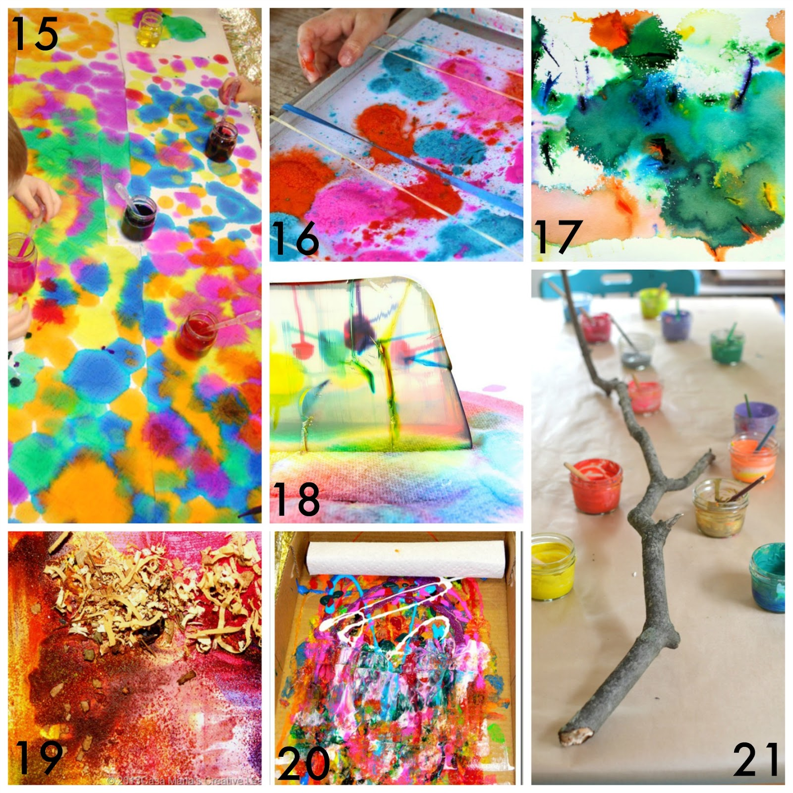 50 easy process art activities for kids from fun at home with kids - Kids Images Free