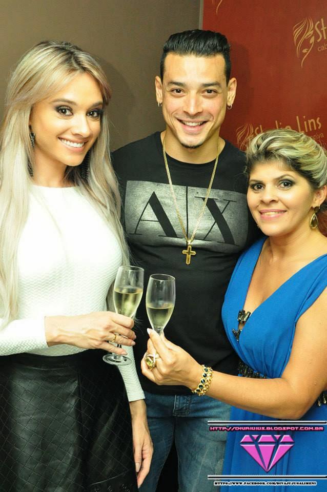 Juju Salimeni, Felipe Franco e Cidinha Lins