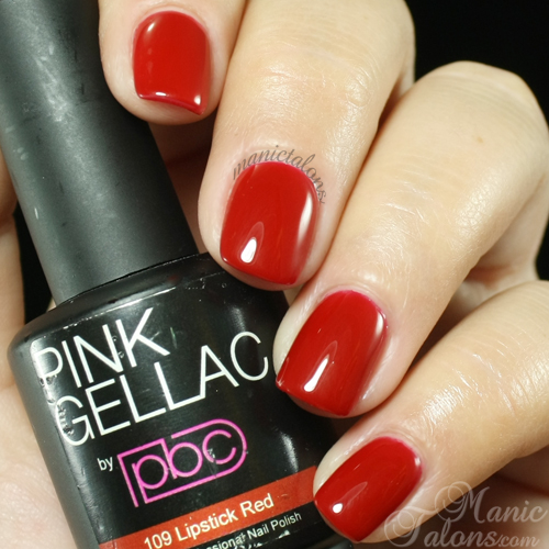 Pink Gellac Lipstick Red Swatch