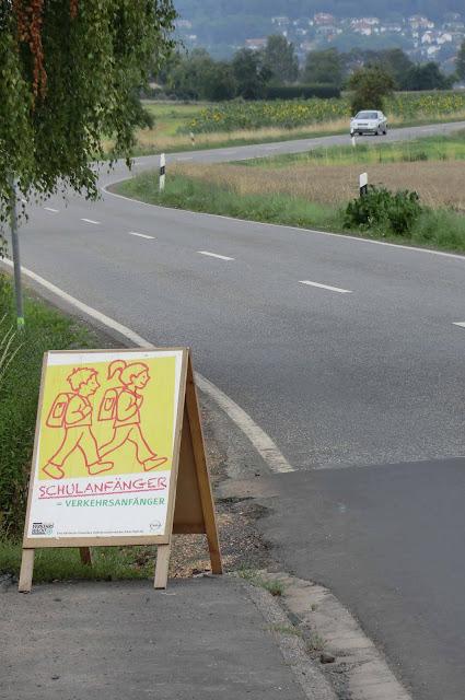 Señalización zona paso de escolares (Alemania)