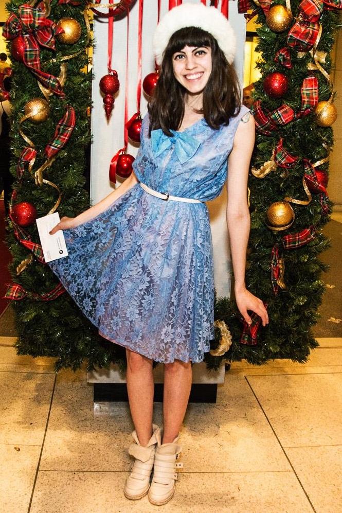 Naomi Larocque, Fashion Is My Religion, blue dress, Nutcracker