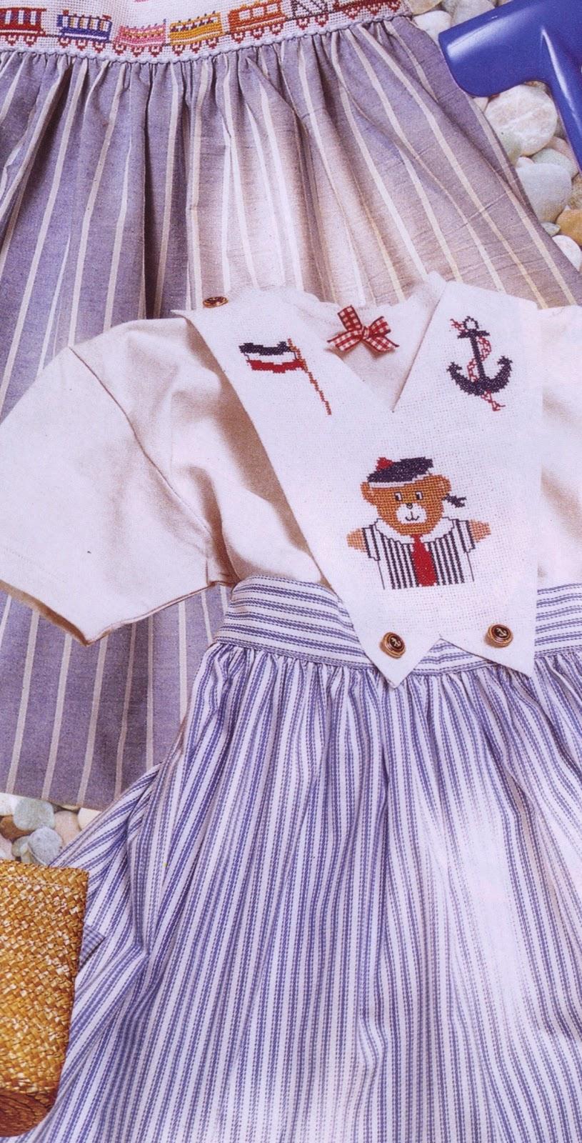 Vestidos para nina en punto de cruz