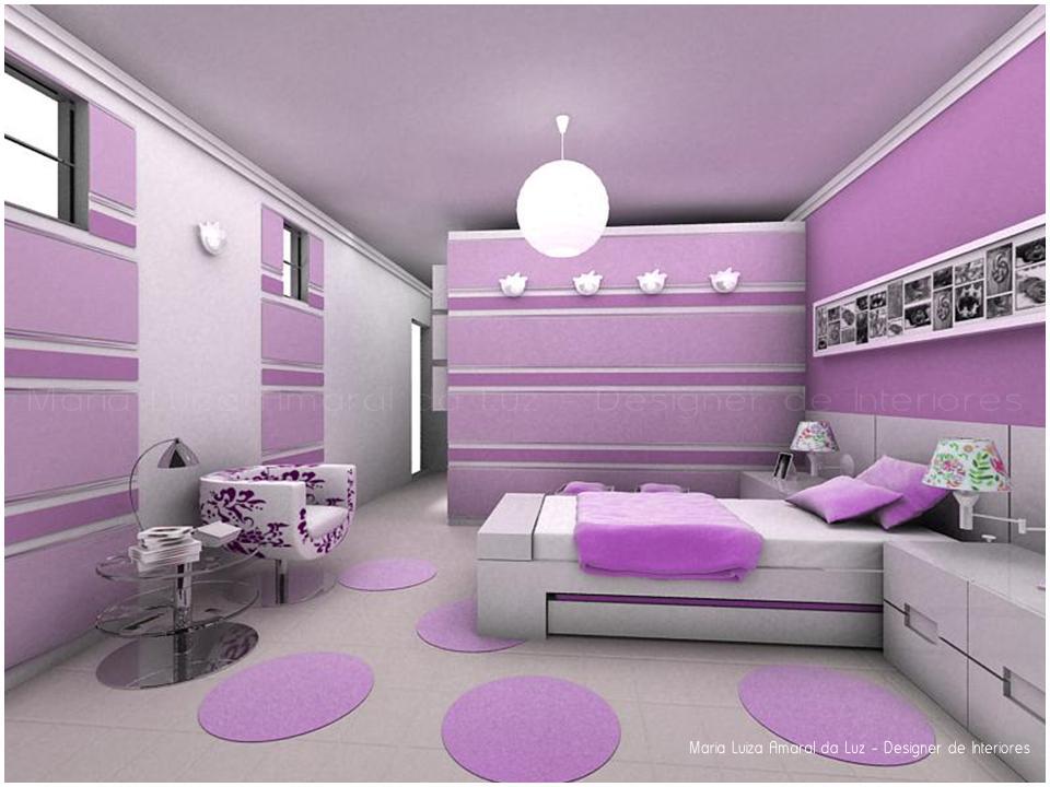 inspiração e diversão decoração em lilás