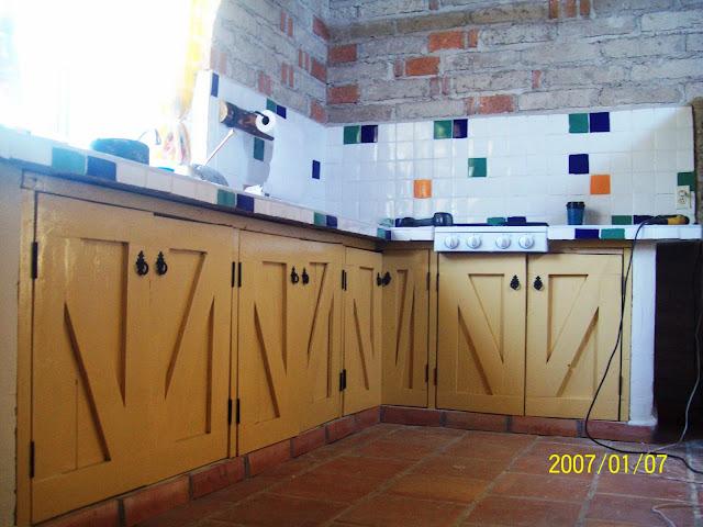 Azulejo Para Baño Talavera:COCINA EN CABAÑA DE PASEO DE LA MONTAÑA