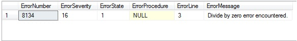 How To Do Exception Handling in SQL Server Stored Procedure with TRY CATCH in Asp.Net C#
