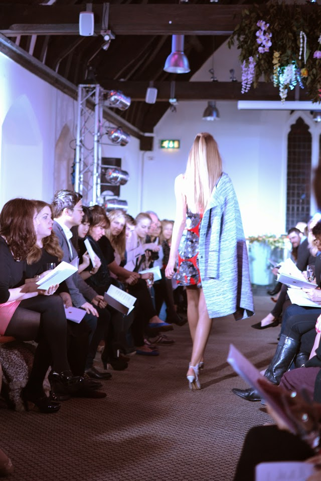 harvey nichols fashion show shoulder robing
