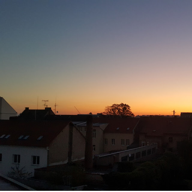 Sunrise in Hradec Kralove, Czech