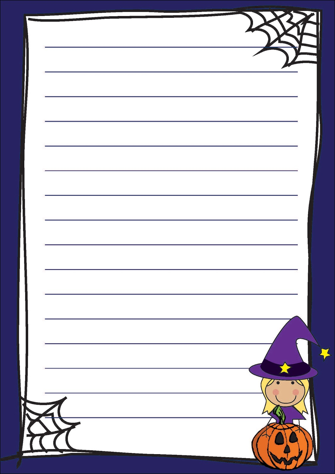 halloween themed writing paper Decorated writing paper: lined pages decorated with clip art to produce fancy paper that students and teachers will love to use for their writing activities or general communication.