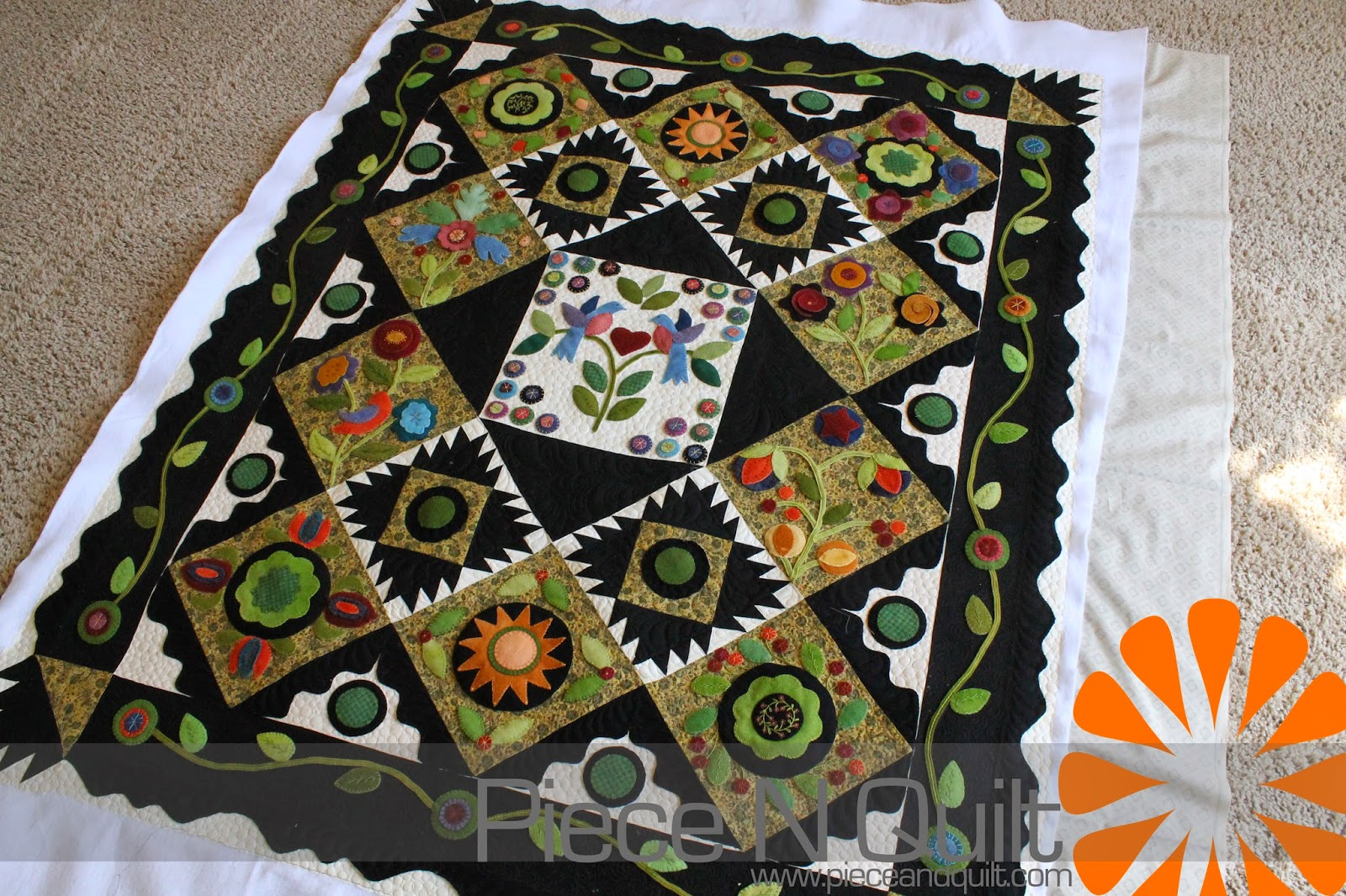 Piece N Quilt: Penny Wool Quilt : quilting with wool - Adamdwight.com