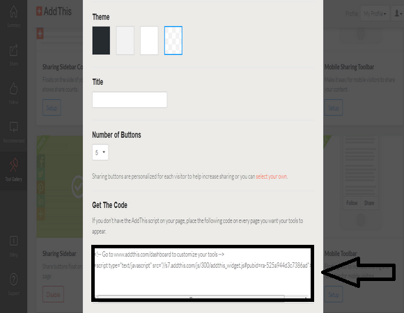 Add AddThis Floating Share Buttons to Blogger